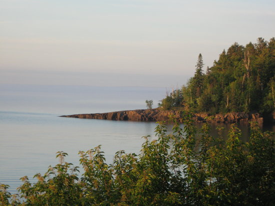 Burlington Bay Campground: Lighthouse Point as seen from campground