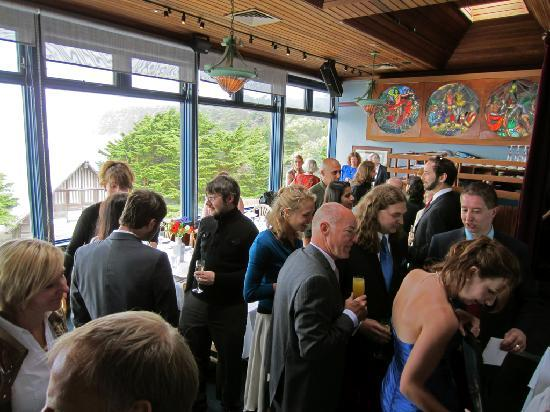 Wedding reception at Moss Beach Distillery By OrganicGardener44