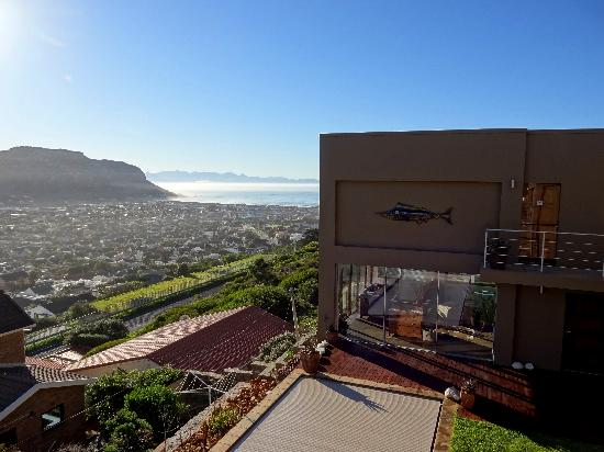 Afrizola: View of False Bay from our balcony