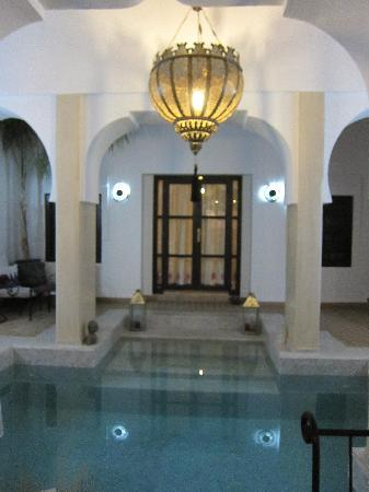 Dar Charkia: my bedroom door across the plunge pool
