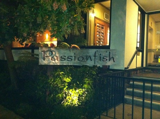 At night after a for Passion fish monterey