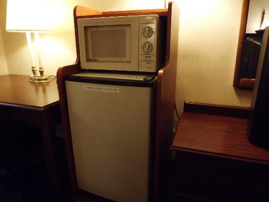 Americas Best Value Inn - Richmond Airport: Ancient fridge and microwave