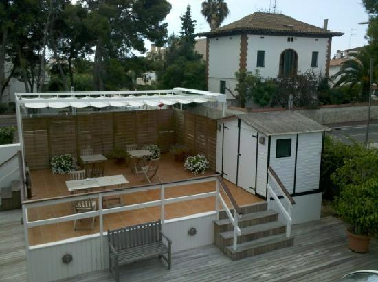 the terrace and the cabin sitges  gay capital of spain haha in spain by oliver kent ► ◄