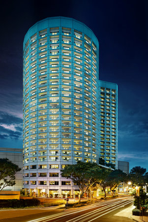 Fairmont Singapore's Night Facade