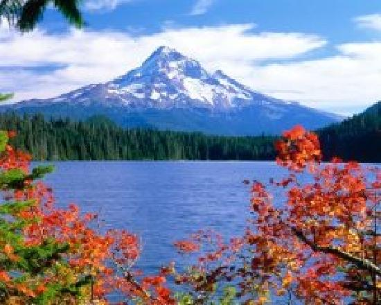 Fall Meets Lost Lake Picture Of Hood River Oregon