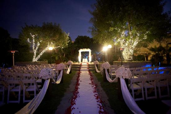 Wedding In The Garden At Night Picture Of Intercontinental Los Angeles Century City Los