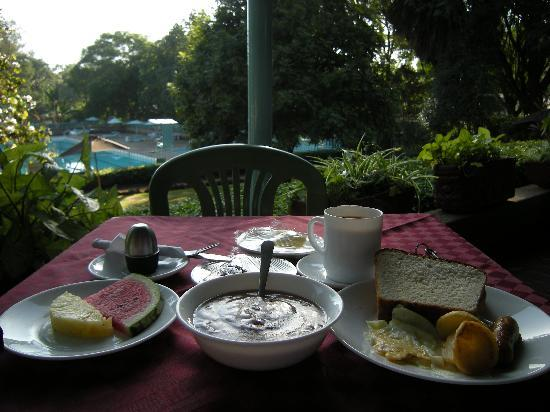 YMCA Nairobi (Central Branch): Excellent breakfast in front of the pool