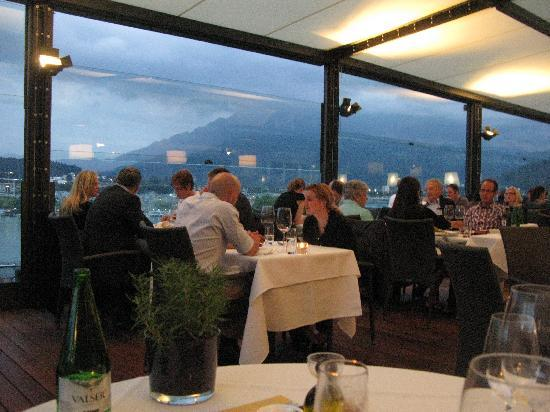Art Deco Hotel Montana Luzern: Hotel Montana Dining Room on Terrace