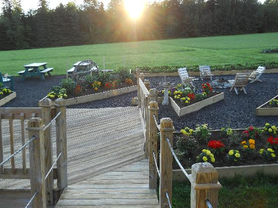 Weston, ME: Garden &amp; Picnic Area