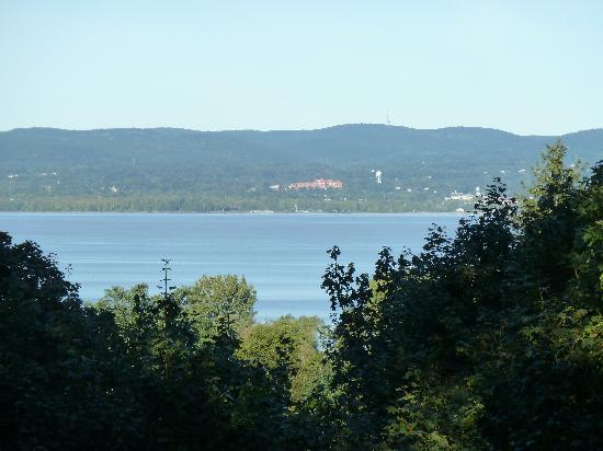 Alexander Hamilton House: View of the Hudson from the Adirondack chairs