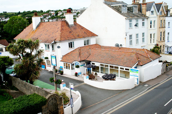 Aerial view of Lyme Bay House