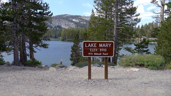 Lake Mary Sign Picture Of Lake Mary Mammoth Lakes