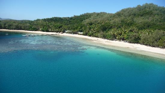 Turtle Island Resort: Lagoon from the air