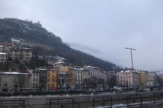 Grenoble from the river Isere