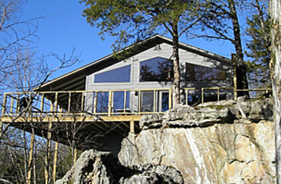 Beaver Lakefront Cabins: Our upscale, glass front cabins overlooking Beaver Lake.