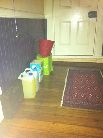 Melba House: Clutter outside one of the guests bedroom