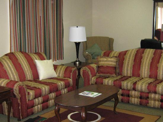 Super 8 New Iberia: Suite; One king size bed, seating area, bar with micro/fridge, two tv's