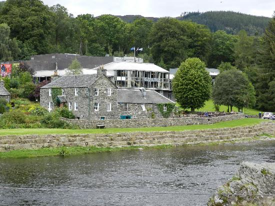 Pitlochry Festival Theatre: The Port-na-Craig restaurant in the fore ...