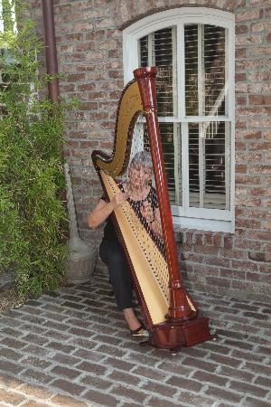 109 West: Perfect setting for the harpist