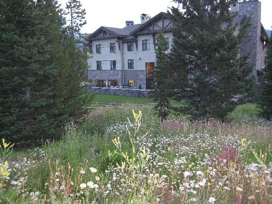 The Lodge at Big Sky: Backside of property