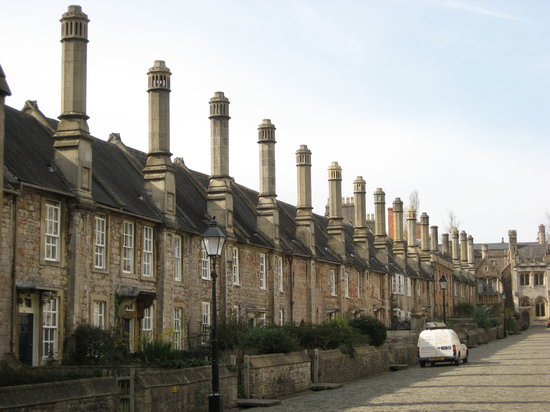 Wells, UK: view of buildings