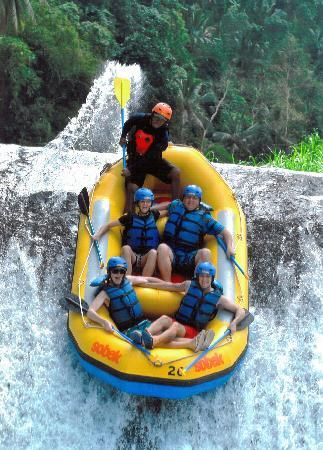 Bali White Water Rafting Gianyar Indonesia On