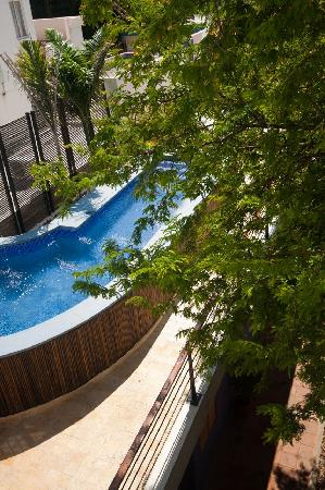 ‪‪Casa de Isabella Hotel Boutique‬: View of pool from suite balcony‬