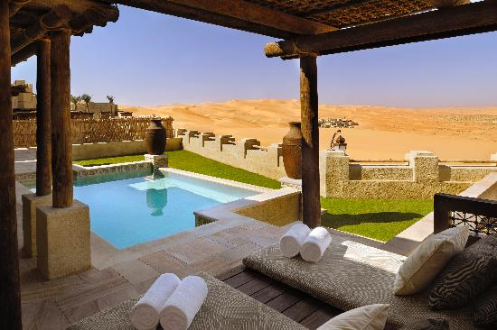 Qasr Al Sarab Desert Resort by Anantara - Morning outlook from Private pool