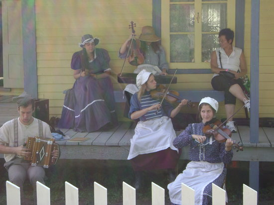 Drummondville, Canada: Enjoying the music of the villagers