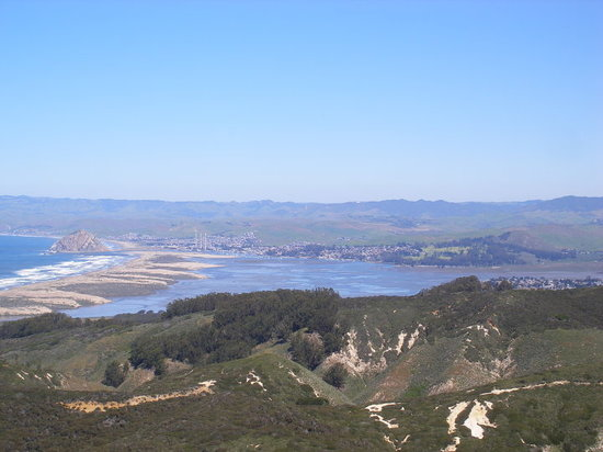 San Luis Obispo, Kalifornia: Looking at Morro bay from the Valencia Trail