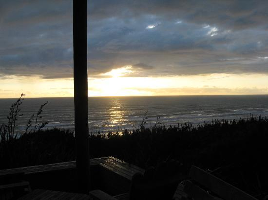 Castaways: Watching the sunset from the restaurant