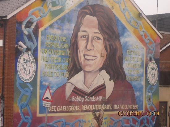 Bobby sands mural picture of falls road belfast for Bobby sands mural