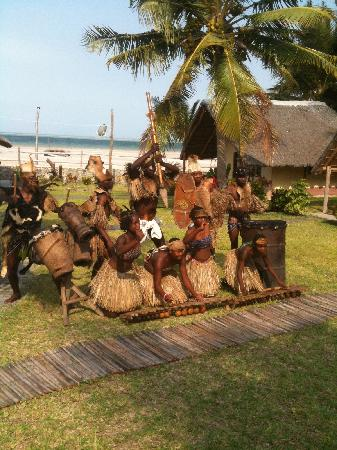 The Beach Village: the full moon dance and drumming group posing for a shot