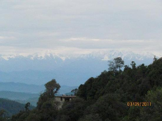 Te Aroha Dhanachuli: View of the Himalaya range