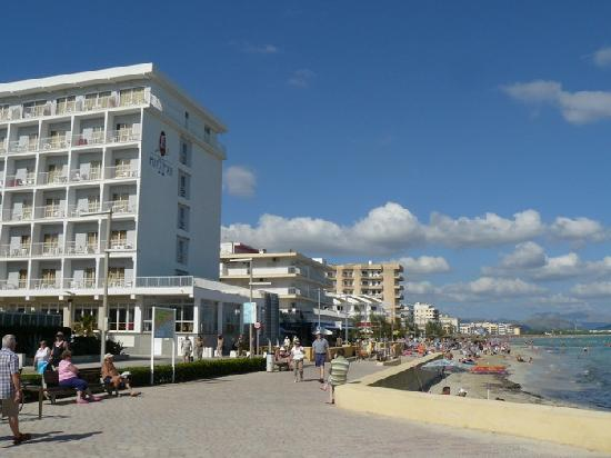 JS Miramar hotel from the beach
