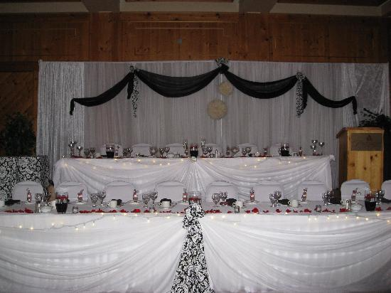 Haliburton, Canada: the hall was beautifully decorated!