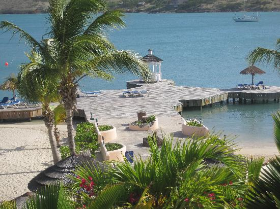 Mamora Bay, Antigua: Where we sunbathed