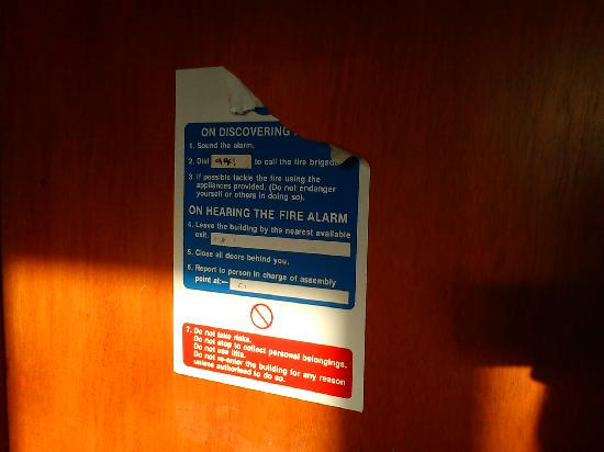 The Blue Dragon Hotel: broken fire safety
