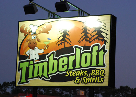 Gordonsville (TN) United States  City new picture : Timberloft Restaurant: I think this is new signage.