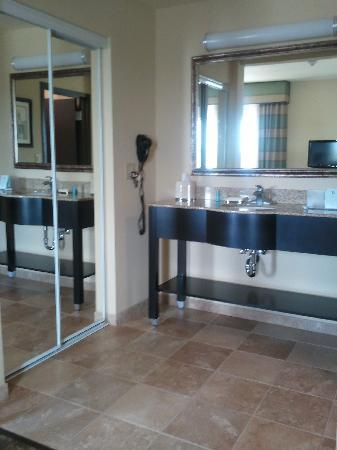 Hampton Inn & Suites McAlester: sink area (en suite) - no privacy door though
