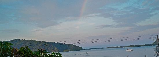 Golfito Marina Vista Villas: Double rainbow over the gulf