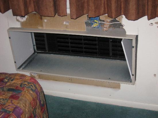 Motel 6 Los Alamos: Air conditioner goes here...