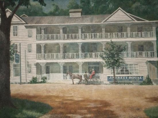 Dillsboro, Carolina del Norte: Painting of the Jarrett House
