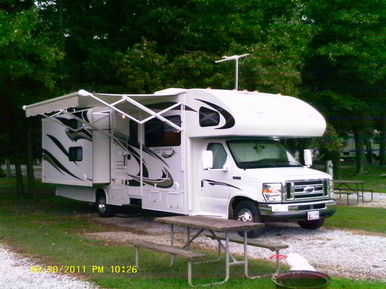 Ramblin Pines Campground: Parked at the site