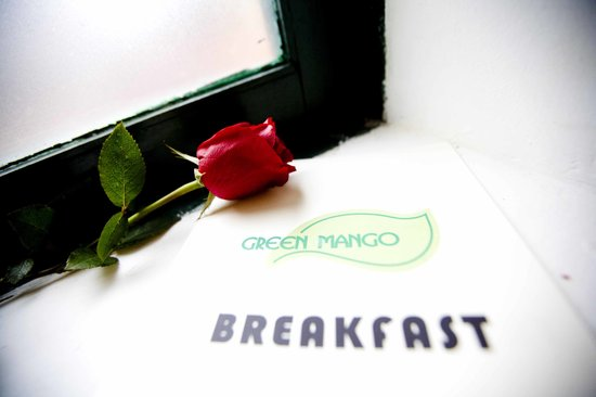 Green Mango Hotel & Restaurant: breakfast menu