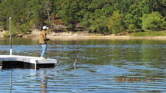 Fishing on the pier picture of cedar lodge settlement for Wisconsin fishing lodges