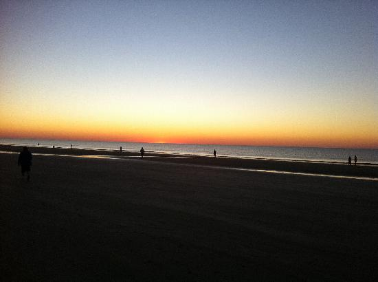 Hilton Head Health: Sun rising during beach walk