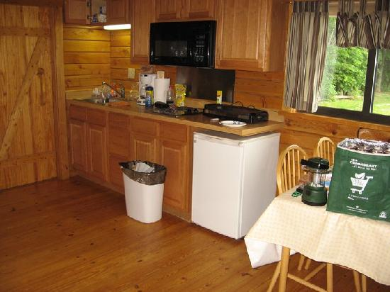 Gettysburg Campground: adequate kitchen for a week stay.