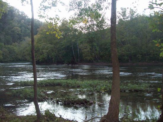 Kyles Ford, TN : view of the river from the hayride 