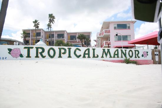 Tropical Manor: view from the beach
